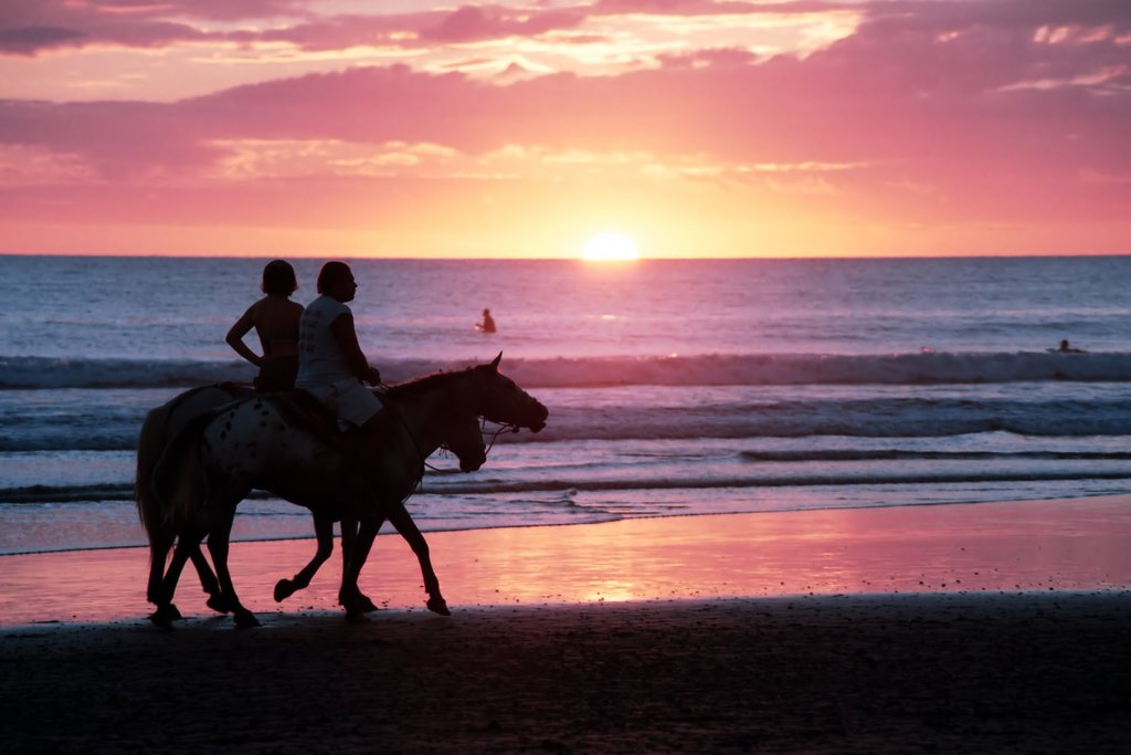 A sunset horseback ride in Nosara