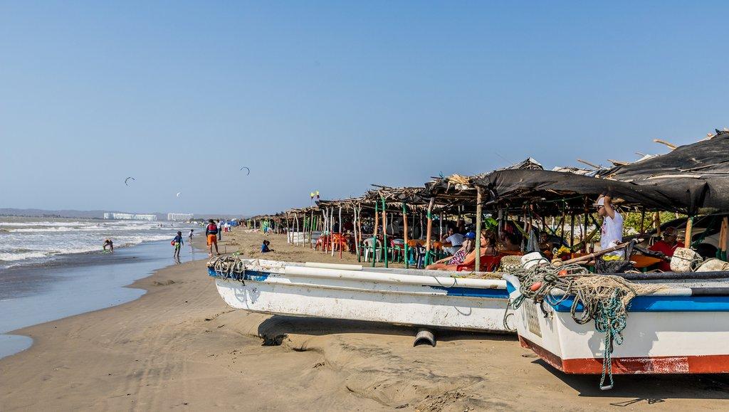 Fishing boats in La Boquilla