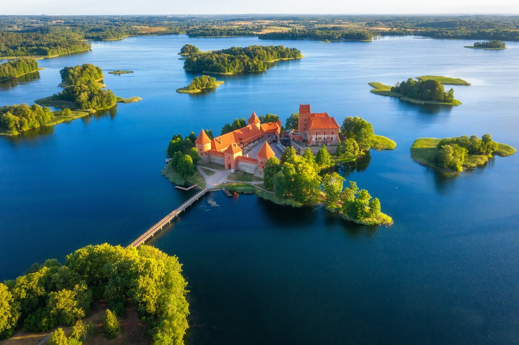 Trakai Castle and the surrounding national park