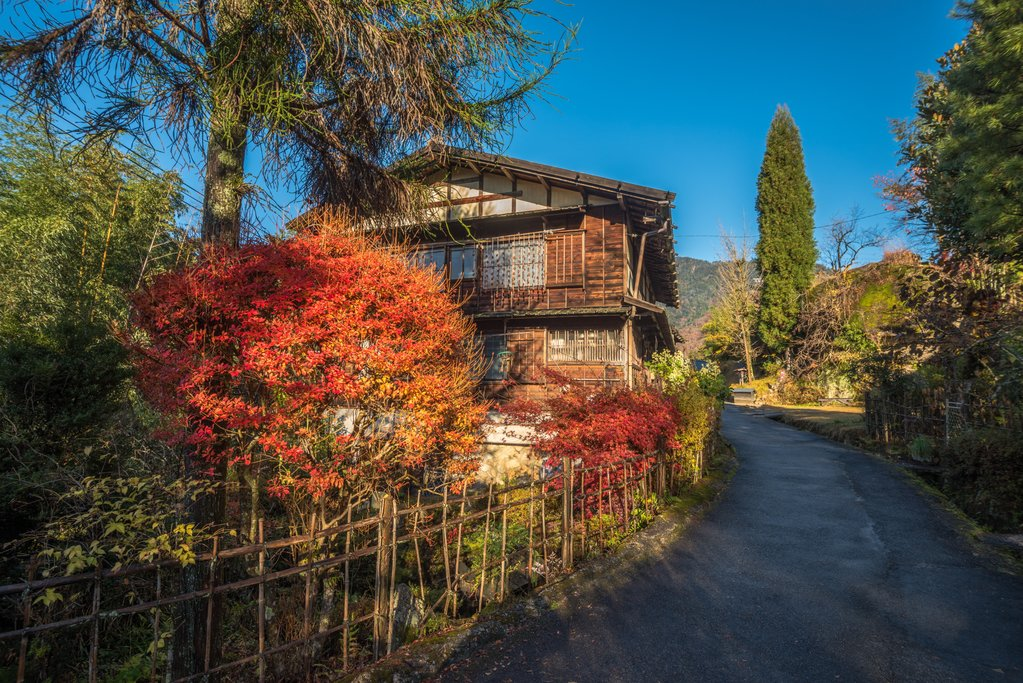 Traditional Wooden Building in Tsumago, Japan