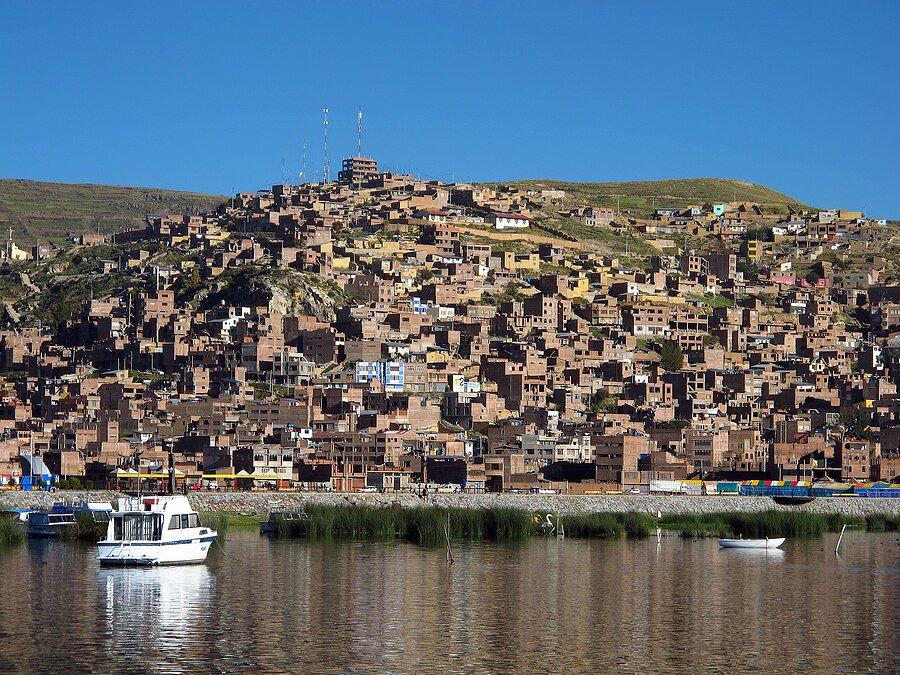 The marina in Puno on Lake Titicaca