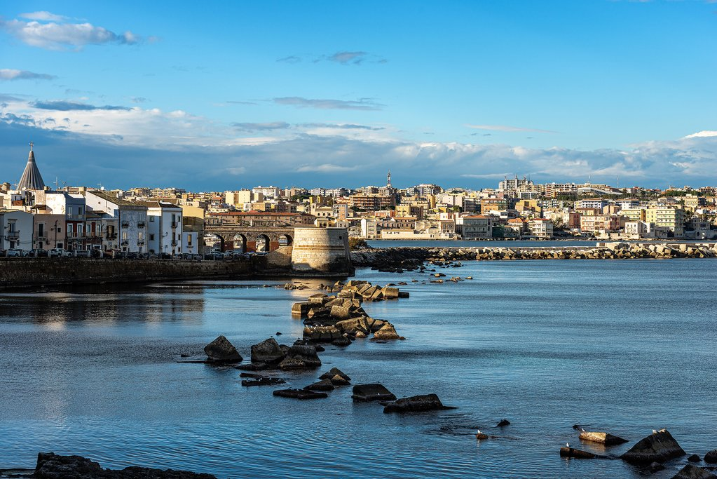 Italy - Sicily - Syracuse - View over Syracuse from the Old City (Ortygia)
