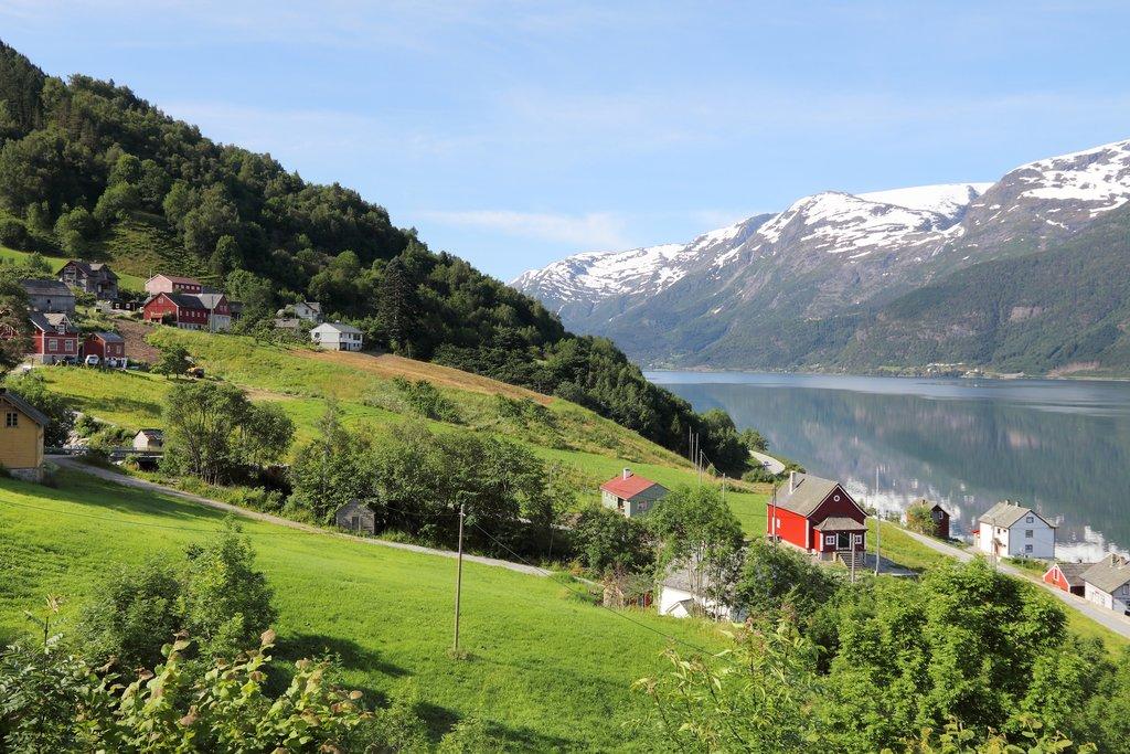 Scenery in the Hardangerfjord