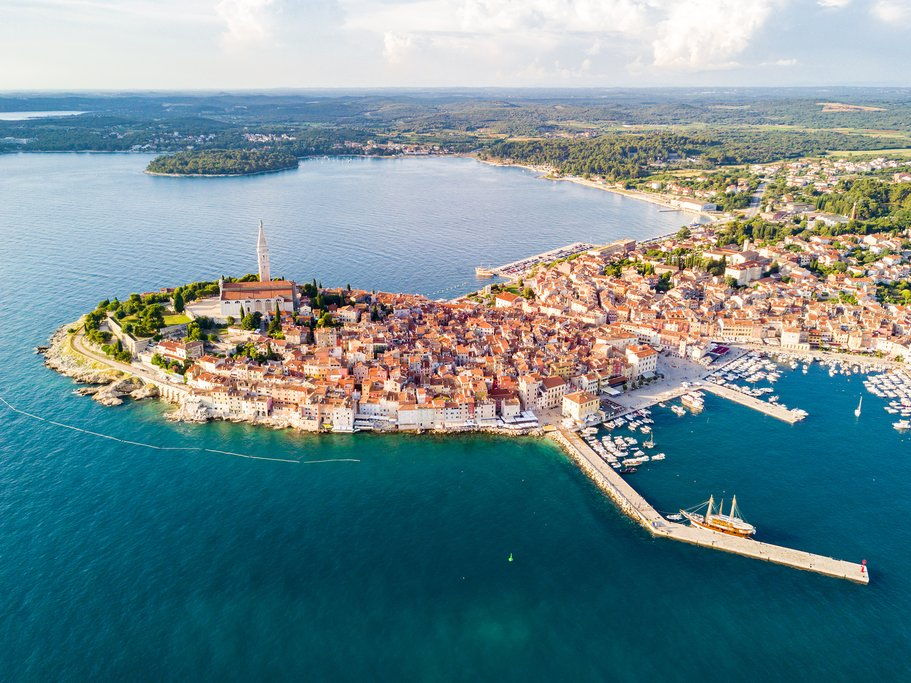 The beautiful coastal city of Rovinj