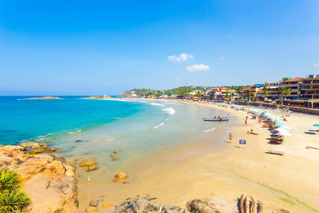 Spend the day at the beach in Kovalam