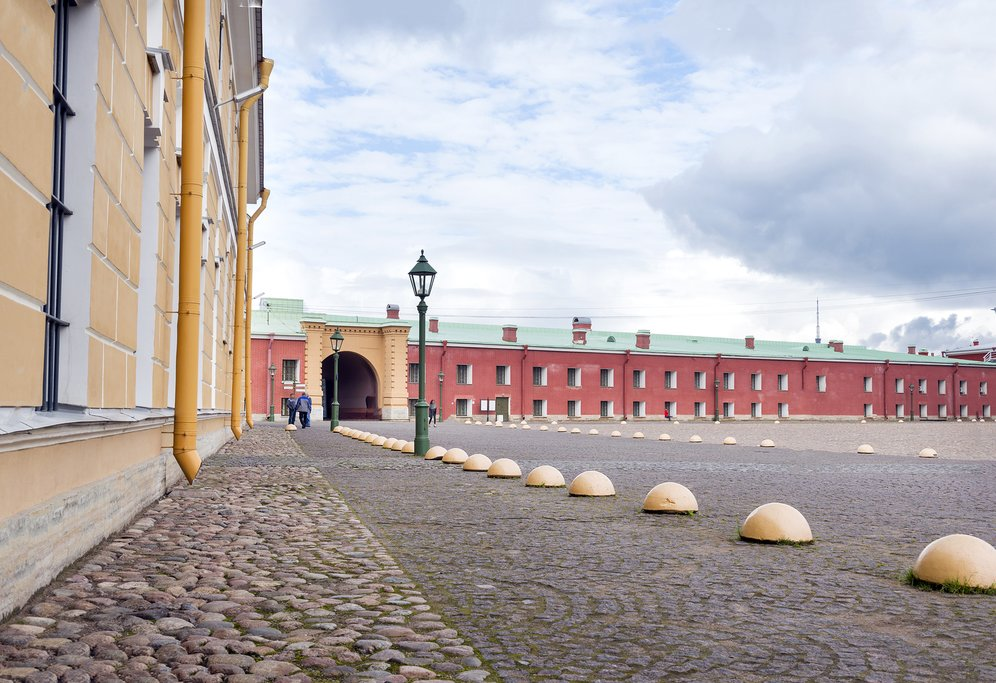 Cobbled walkways within Peter and Paul Fortress
