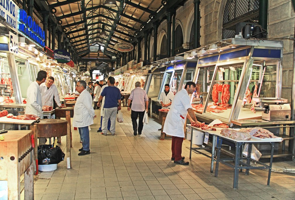 Vendors in the market