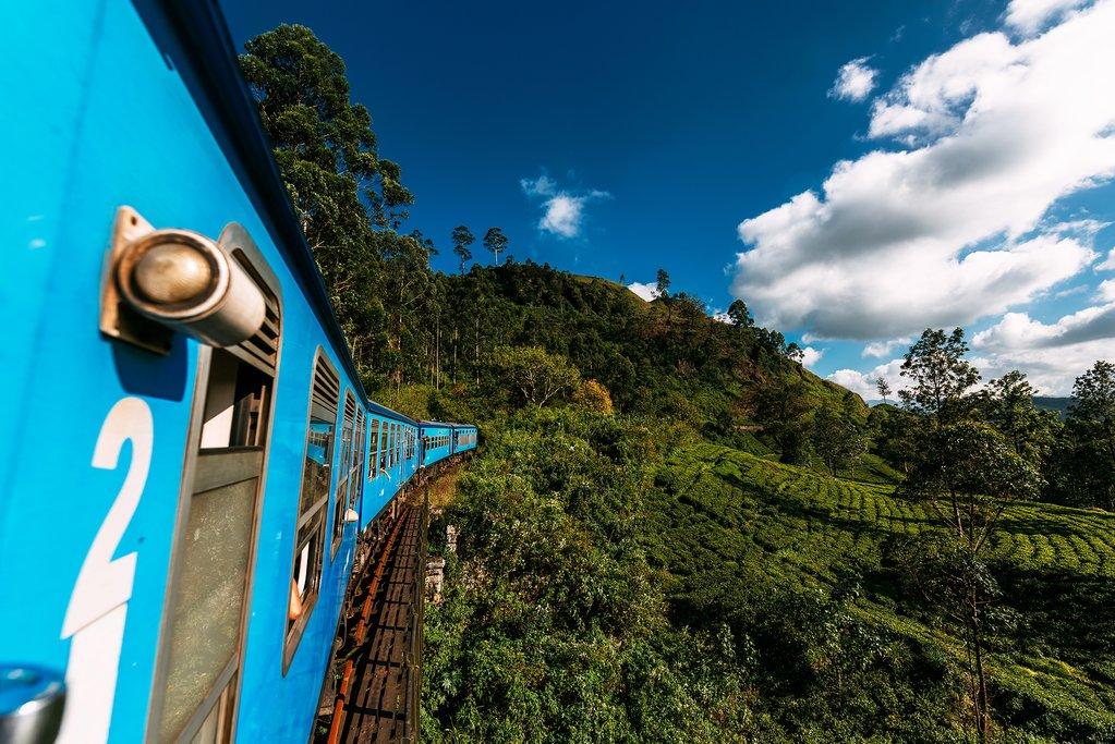 Take the scenic train ride from Nuwara Eliya to Kandy