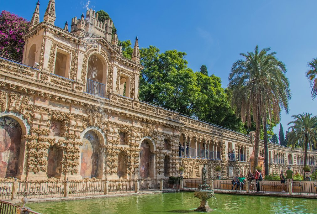 The Alcázar, a fine example of Moorish architecture