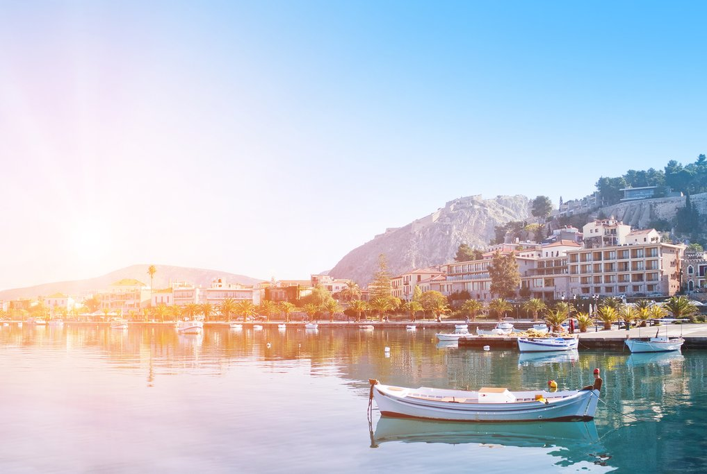Sunrise at Nafplio harbor