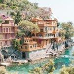 Colorful summer villas in Portofino