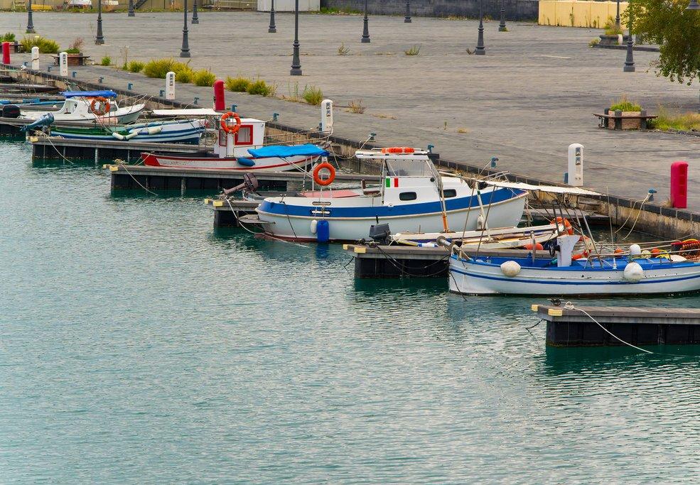 Fishing Boats in Riposto's Harbor, Sicily