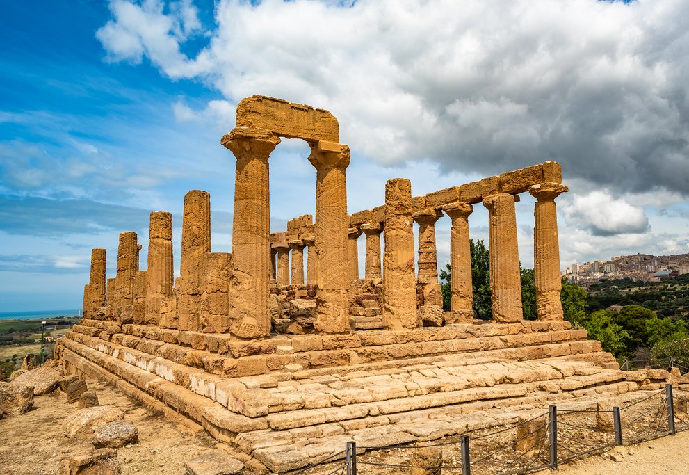 Temple of Juno in the Valley of the Temples, Agrigento, Sicily