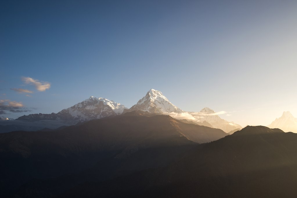 View from Poon Hill at sunrise
