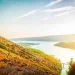 Verdon Gorges as sunset