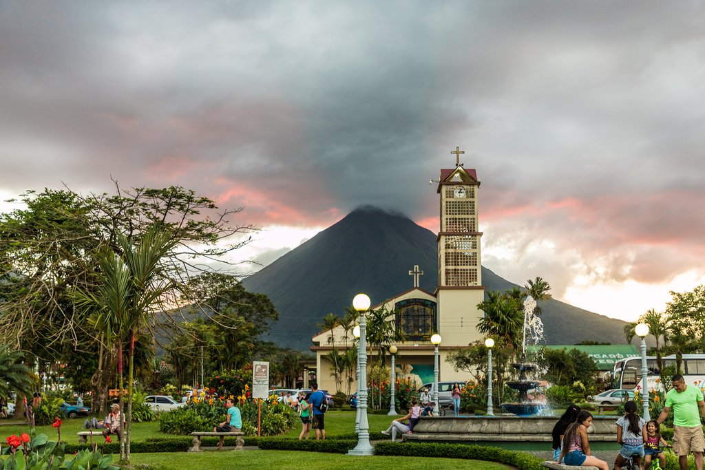 View of Arenal from La Fortuna, Costa Rica