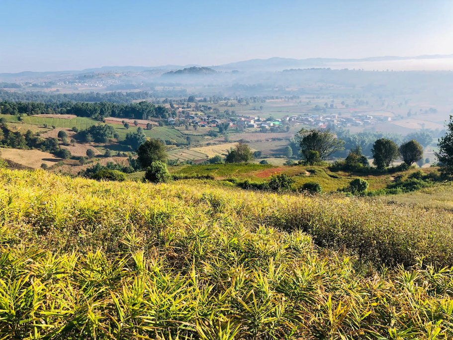 On a hill overlooking Kalaw