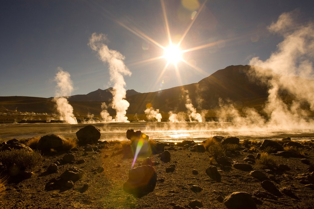 Sunrise over the Tatio Geysers