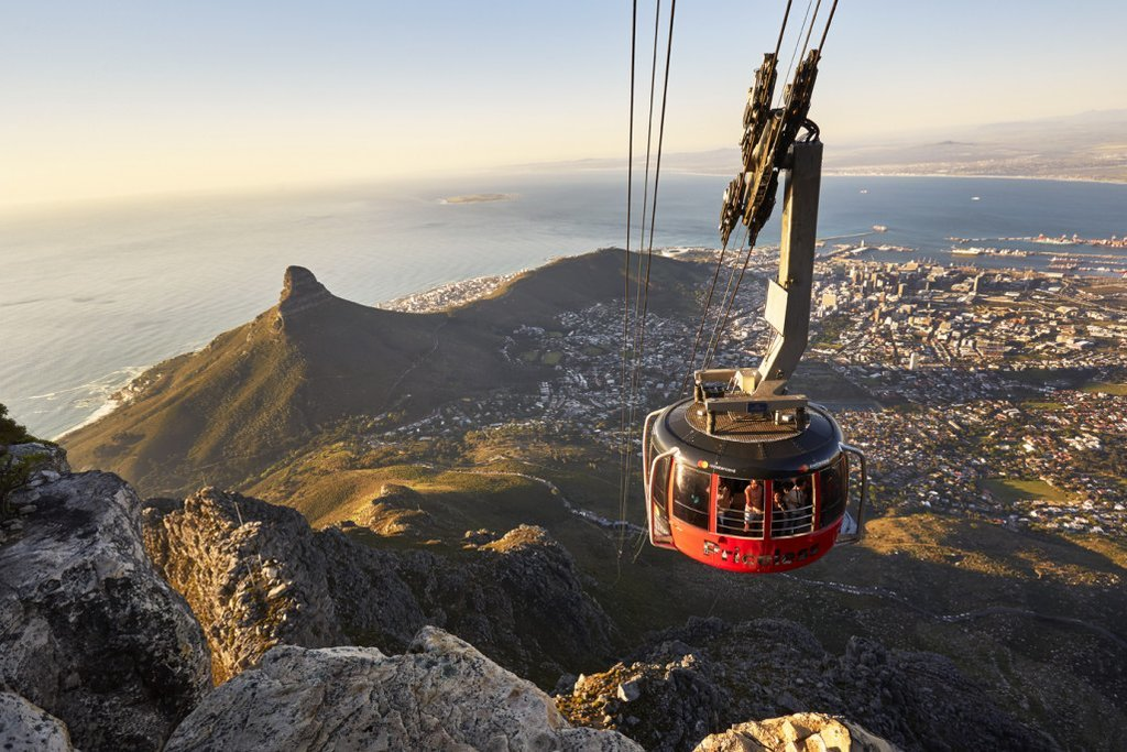 Cable car at Table Mountain