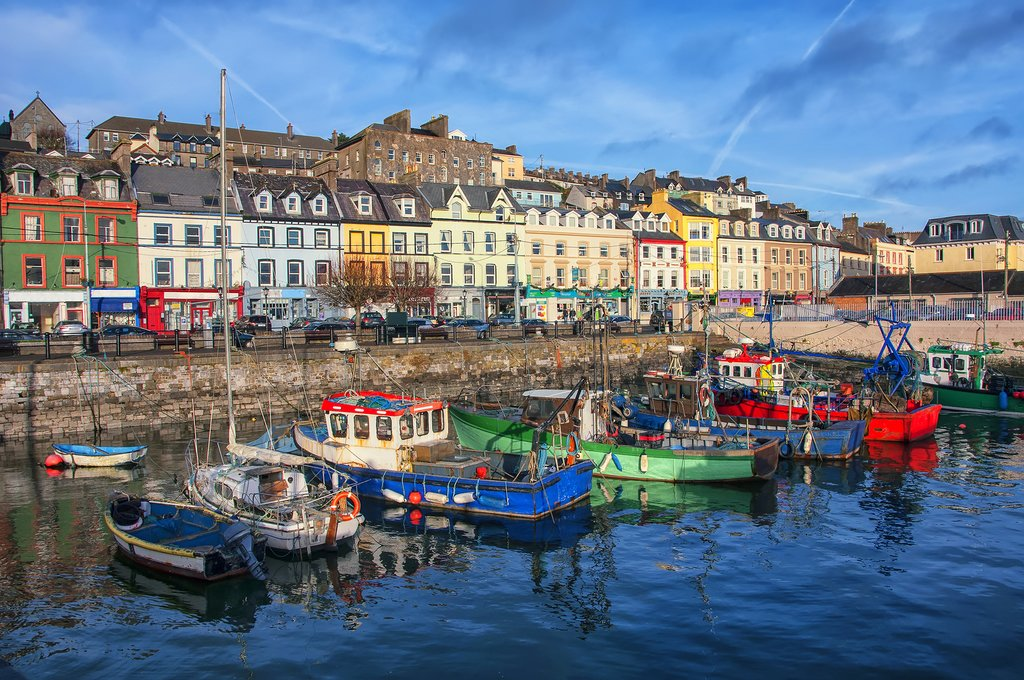The colorful harbor town of Cobh.