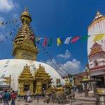 The stupa at Swayambhunath