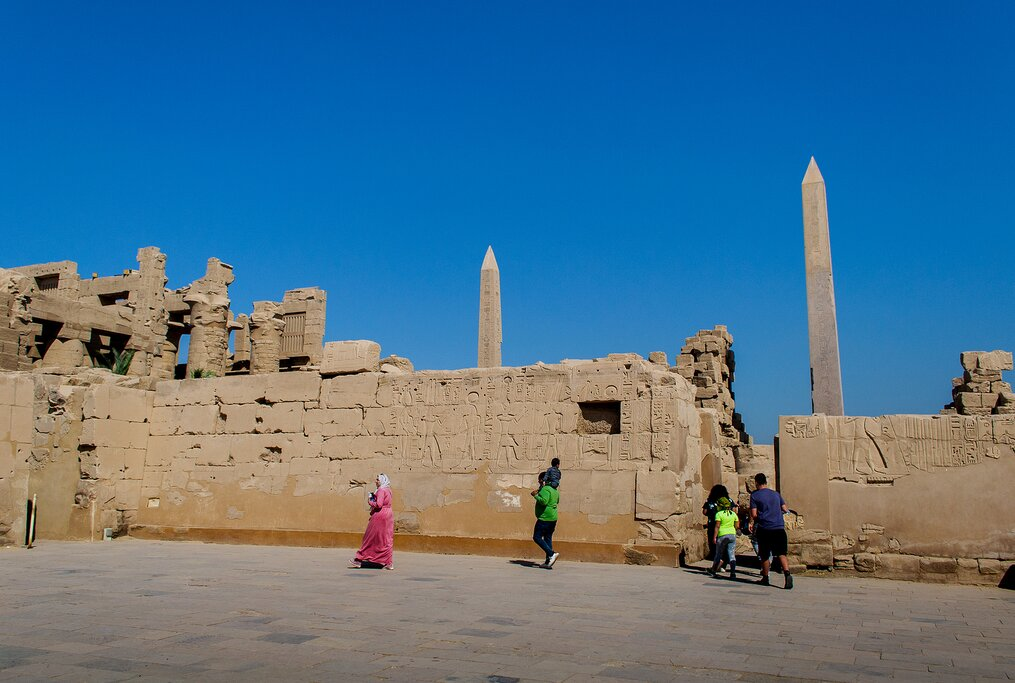 Luxor Temple on the banks of the Nile River