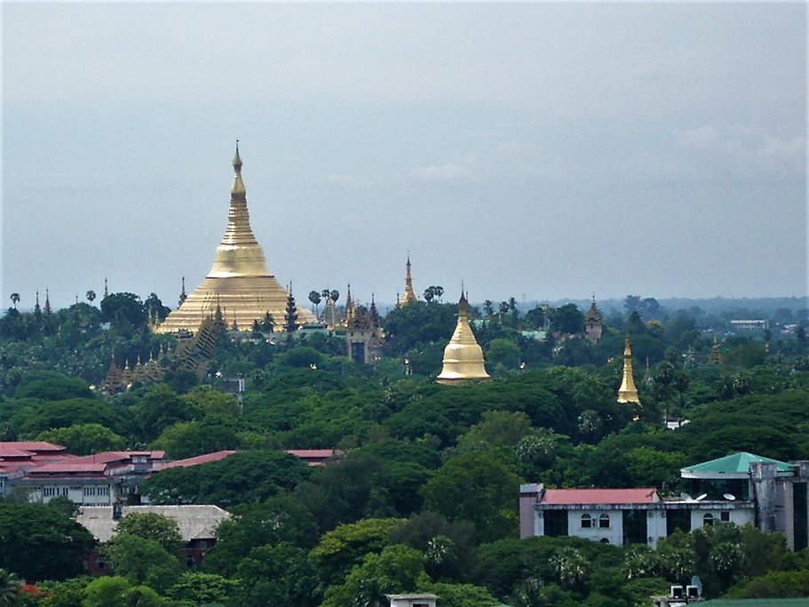 Shwedagon Pagoda from afar