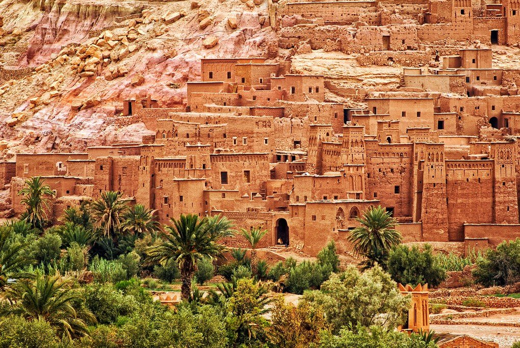 The mud-brick Aït Benhaddou Kasbah