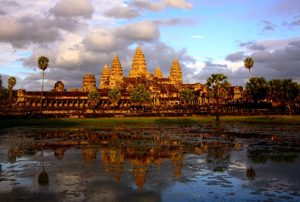 Originally a Hindu temple, Angkor Wat was transformed into a Buddhist temple at the end of the 12th century
