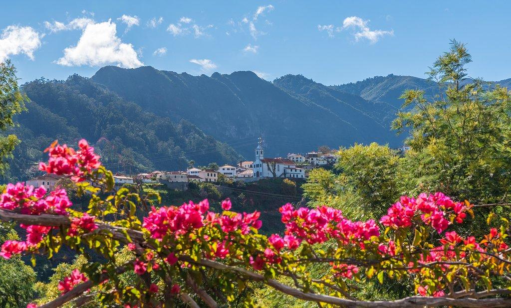 Madeira island's scenic landscape