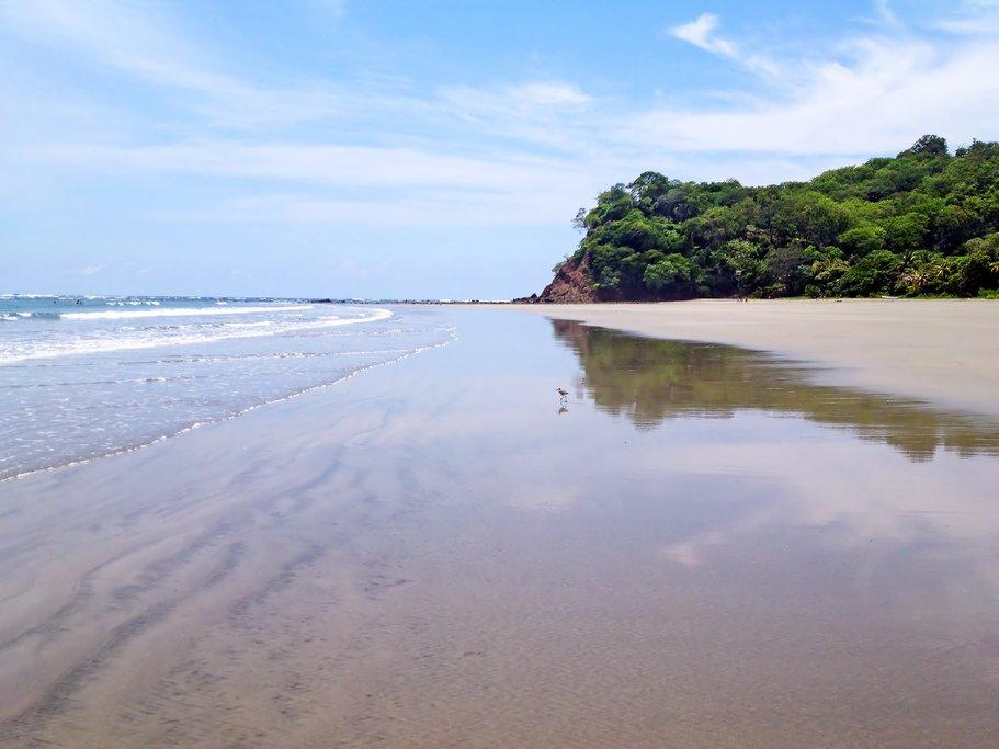View of the beach in Samara, Costa Rica