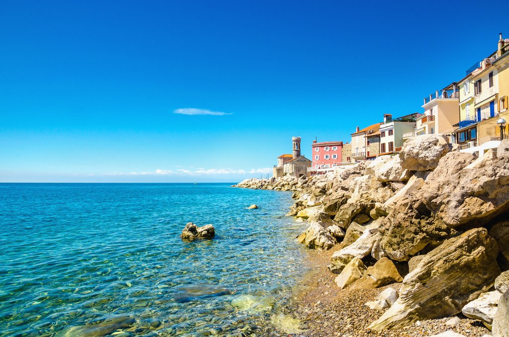 Piran coast, Slovenia