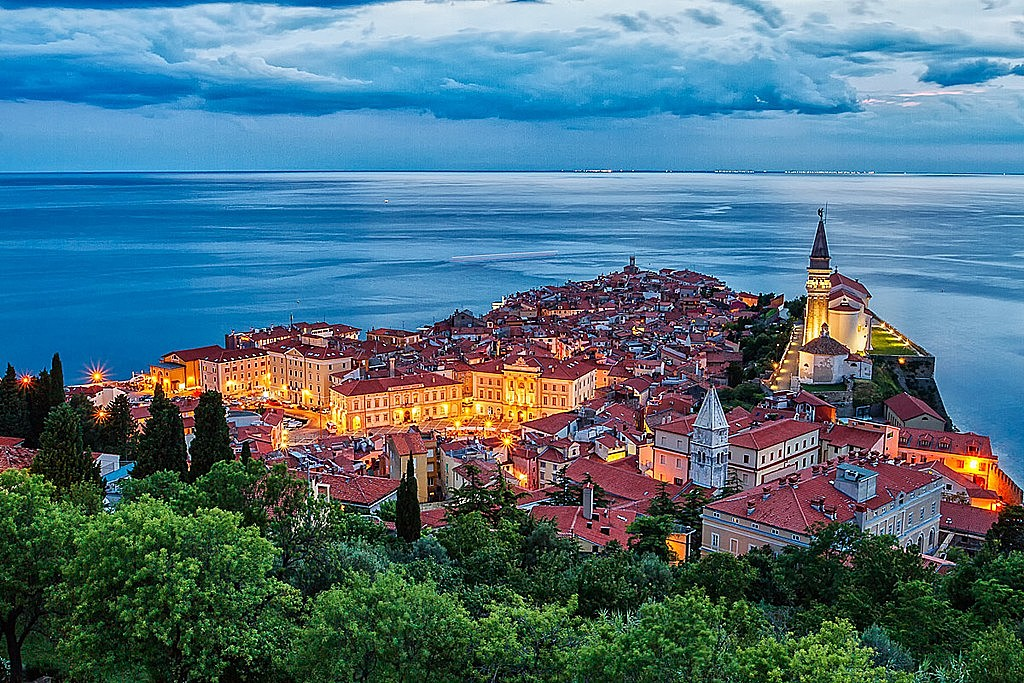 Piran on its peninsula