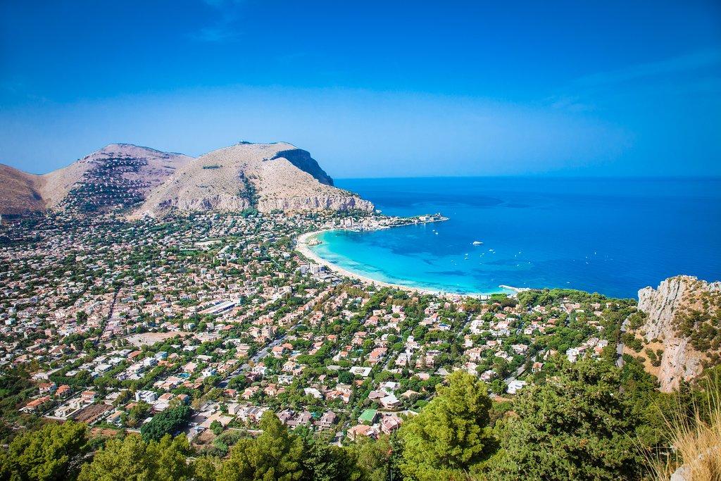 Mondello Beach, Palermo, Sicily, Italy