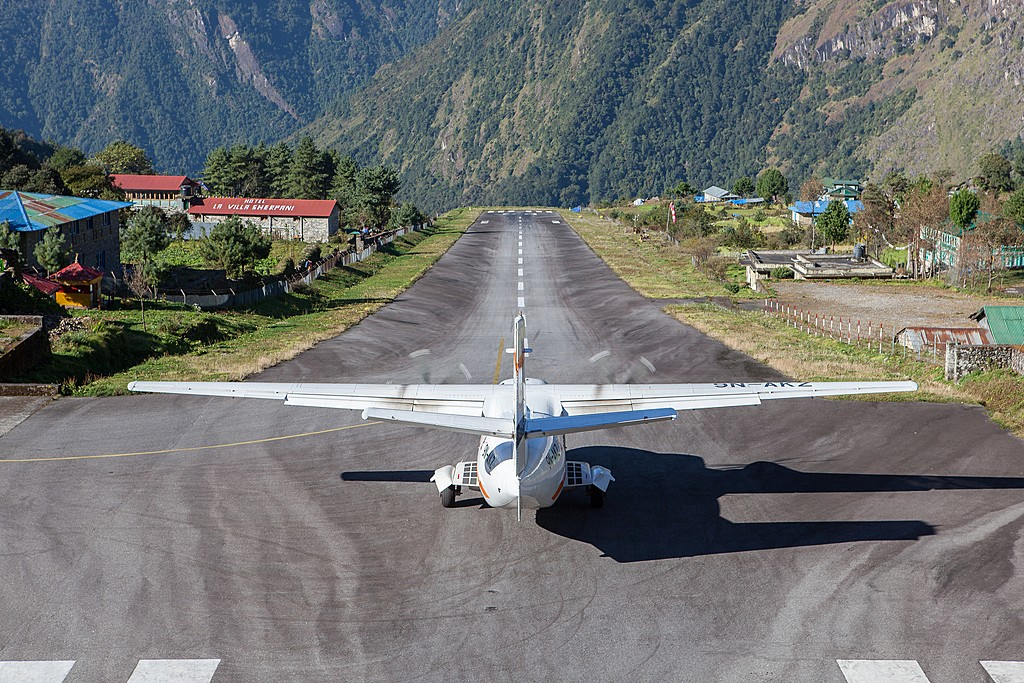 Taking off from Lukla's airport