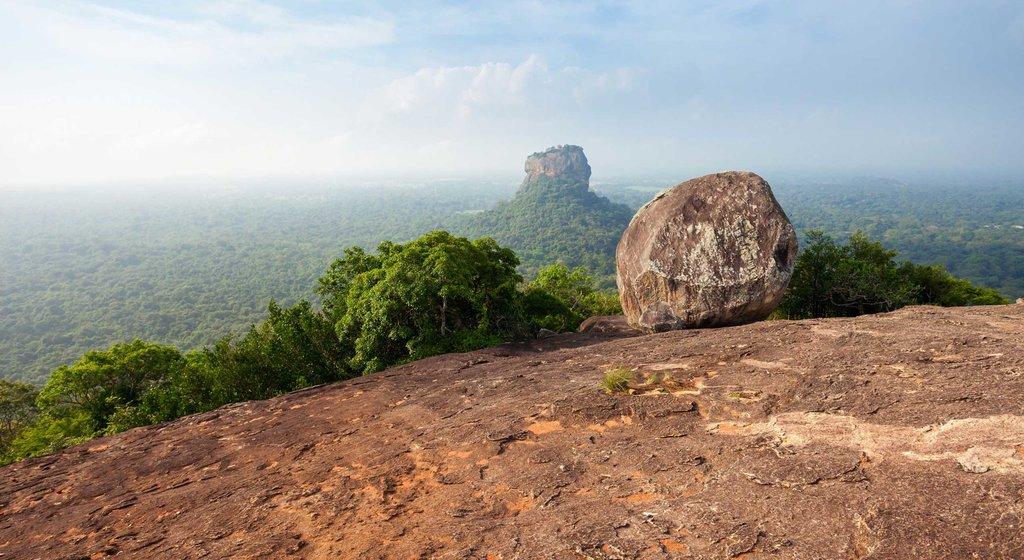 View of Sigiriya from Pidurangala Rock