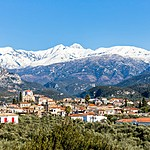 Snowcapped mountains of Taygetos