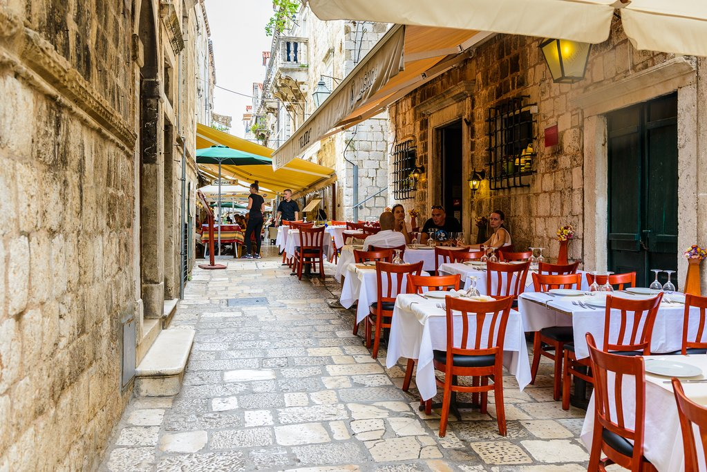 Charming restaurant in Dubrovnik's Old Town