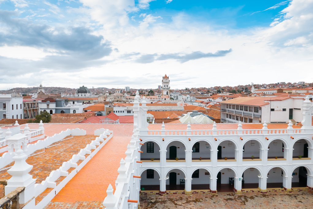 View from a rooftop in Sucre