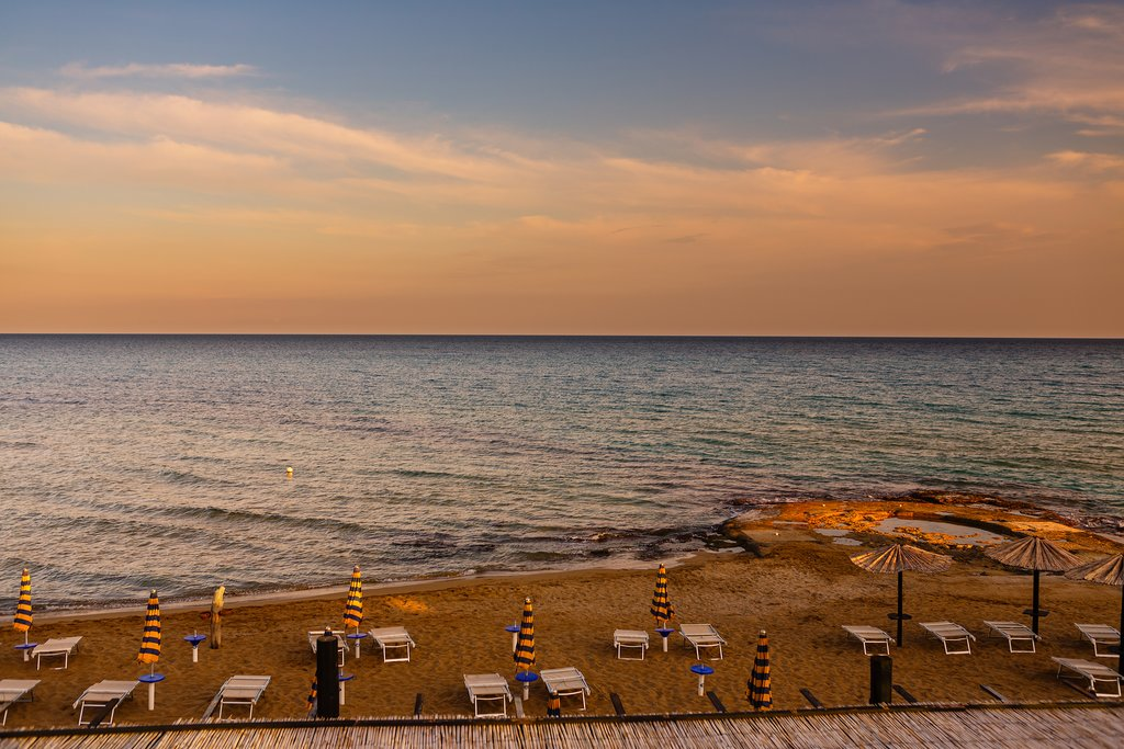 Lido di Noto at sunset