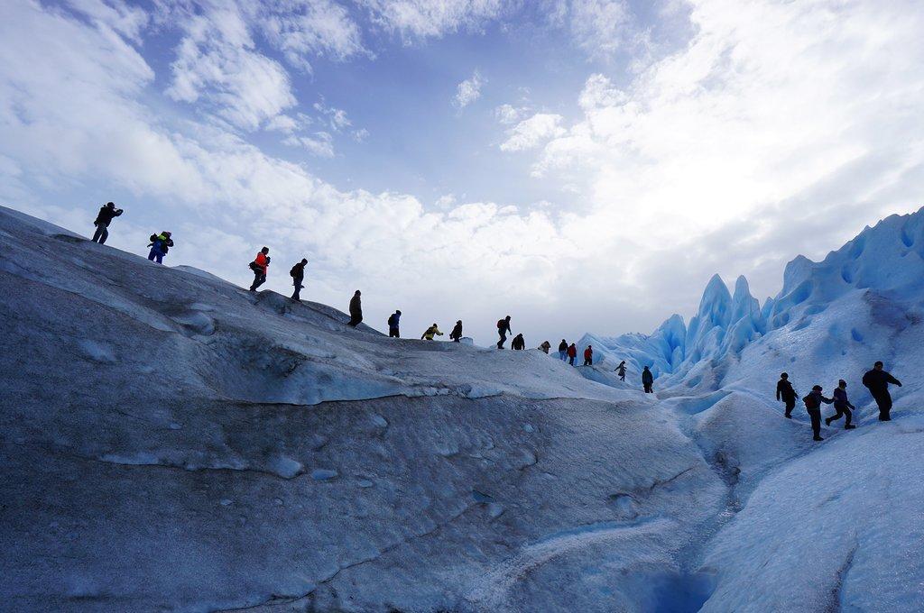 Trekking on Perito Moreno glacier