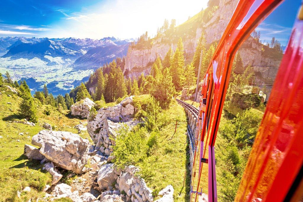 World's steepest cogwheel railway