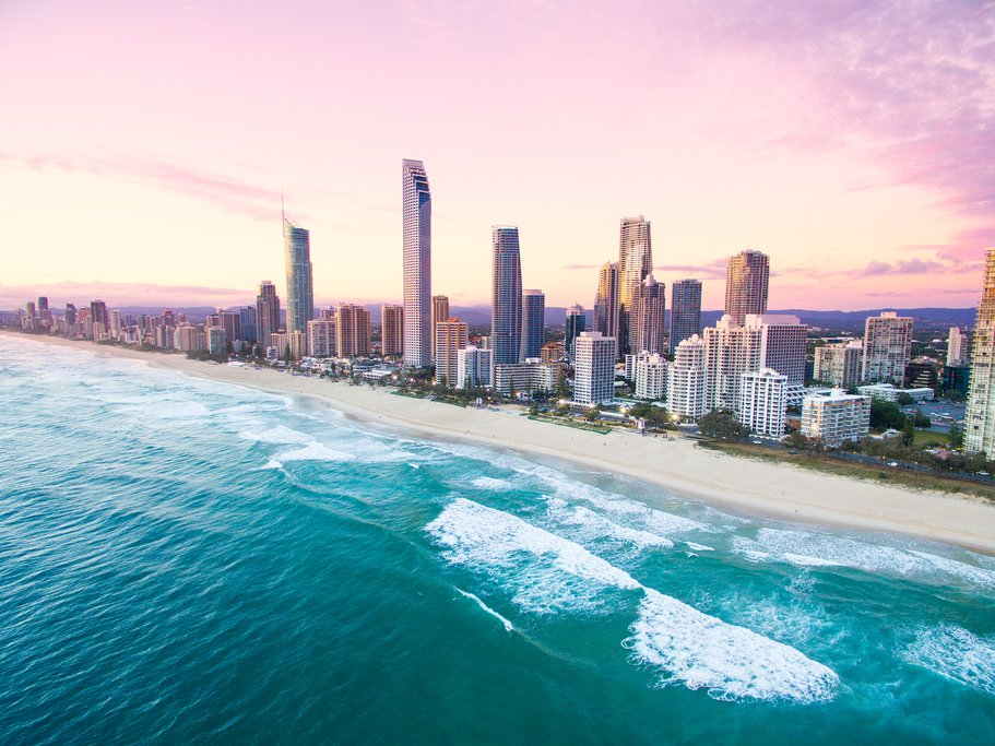 Make your way to Surfer's Paradise on the Gold Coast