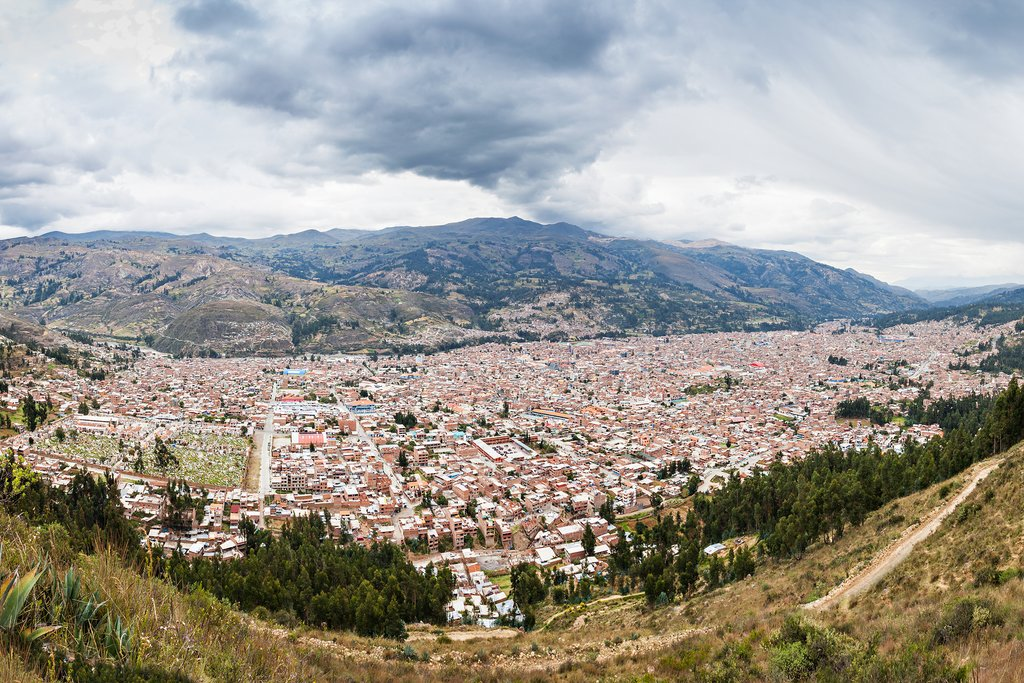 Aerial view of Huaraz