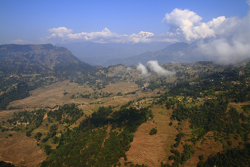 The countryside surrounding Nagarkot, a popular hilltop village
