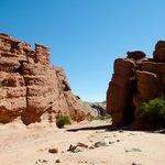 The rock formations of Quebrada del Rio de las Conchas