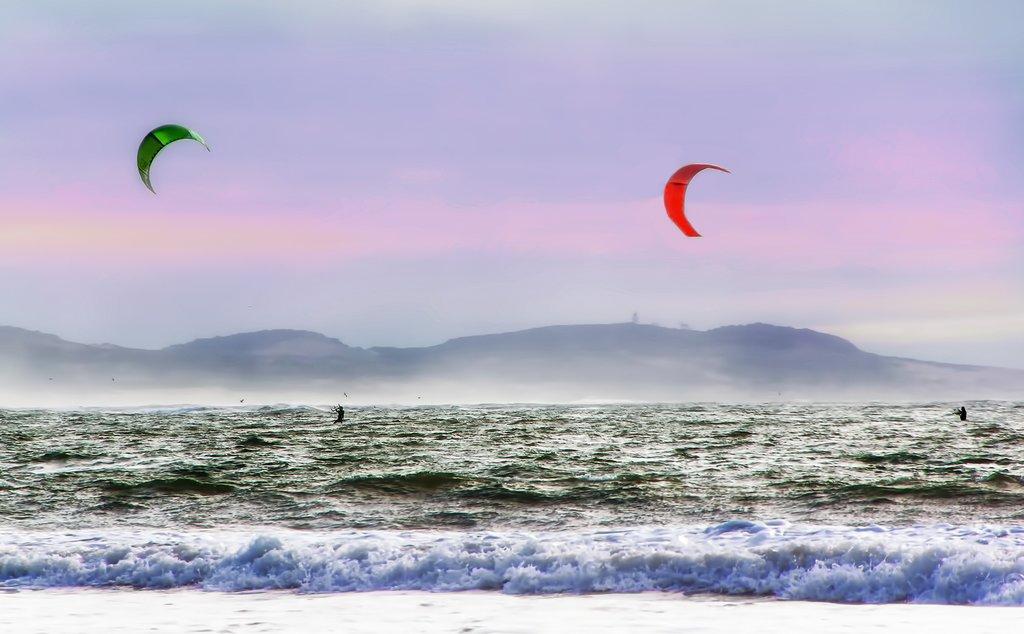 Kitesurfing in Essaouira, Morocco