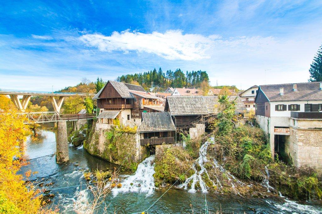 Old watermills in the village of Rastoke