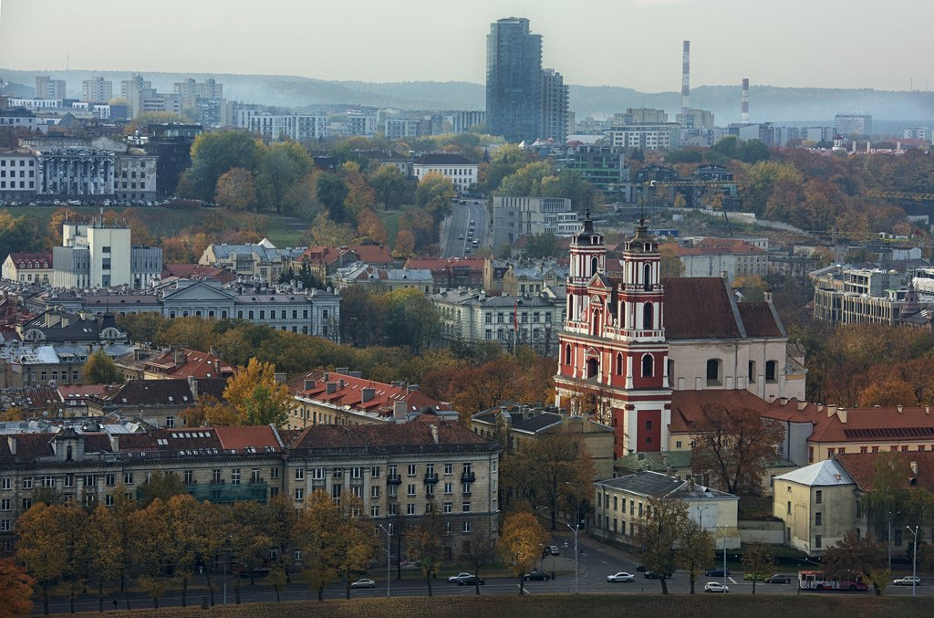 Panoramic views of Vilnius, Lithuania's capital
