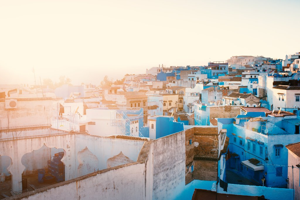 Chefchaouen - blue city of Morocco.